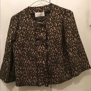 Valentino Brown/ glitter blouse top